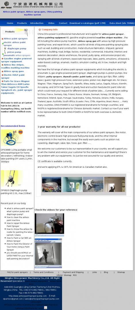 Dino-Power Airless Paint Sprayer ,Ltd  • Roscommon