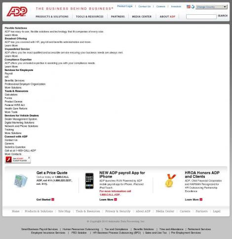 Adp Business Solutions •