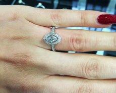 0.90 carat Halo Engagement Ring HD043
