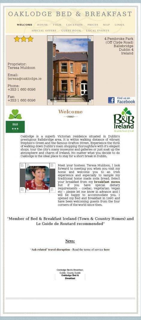 Oaklodge Bed & Breakfast • Dublin •